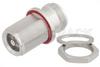Bulkhead Mount 4.1/9.5 Mini DIN Female to 4.1/9.5 Mini DIN Female Adapter, IP67 UnMated -- PE91234