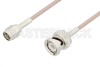SMA Male to BNC Male Cable 24 Inch Length Using 75 Ohm RG179 Coax -- PE3C3321-24 -Image