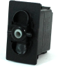 Carling Technologies VDD1S00B-00000-000 Unlit, DPDT, On-None-On, 12V/20A Rocker Switch -- 44329 - Image