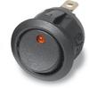 Illuminated Round Rocker Switch 44170, On-Off, SPST, 3 Contacts, Amber -- 44170 - Image