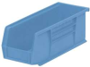 Stack & Hang Bin,W4 1/8,D 10 7/8,Lt Blue -- 5TFR7