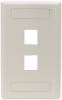 2-Port Office White Single-Gang Keystone Wallplate -- WPT462 - Image