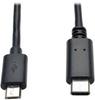 USB 2.0 Cable, USB Micro-B Male to USB Type-C (USB-C) Male, 6-ft. -- U040-006-MICRO - Image