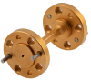 WR-5 45 Degree Waveguide Left-hand Twist Using a UG-387/U-Mod Flange and a 140 GHz to 220 GHz Frequency Range -- FMW5TW0001 - Image