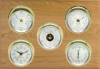 Professional, Brass cases, Silver dials, Oak panel