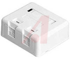 Box; White; Surface Mount; Dual; 2 portsurface box for keystone -- 70121785 - Image