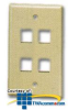 ICC Flush Mount 4-Outlet Modular Faceplate -- ICC-FACE4