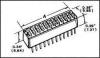 TE CONNECTIVITY / ALCOSWITCH - 2-435640-9 - SWITCH, DIP, 2 POS, SPST, RAISED ROCKER -- 834030 - Image