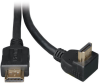 High Speed HDMI Cable with 1 Right Angle Connector, Digital Video with Audio (M/M), 6-ft. -- P568-006-RA -- View Larger Image