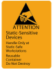 "Static Sensitive Devices & Reusable Container 1-7/8 x 2-1/2"" -- #TM7101 -- View Larger Image"