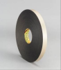 3M 4496 Black Foam Mounting Tape - 3/4 in Width x 36 yd Length - 1/16 in Thick - 30424 -- 021200-30424 -- View Larger Image