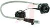 Category 5E RJ-45 Bulkhead Receptacle, w/RJ-45 whip cord -- 70110942 - Image