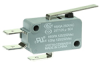 MICRO SWITCH V15 Series Standard Basic Switch, 16 A, straight lever, 6,35 mm x 0,80 mm quick connect terminals, SPDT, 300 gf [2,94 N] -- V15T16-CZ300A02-K -Image