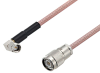 SMA Male Right Angle to TNC Male Cable 24 Inch Length Using RG142 Coax -- PE3W06829-24 -Image