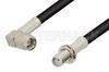 SMA Male Right Angle to SMA Female Bulkhead Cable 6 Inch Length Using RG58 Coax, RoHS -- PE3156LF-6 -Image