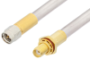 SMA Male to SMA Female Bulkhead Cable 24 Inch Length Using PE-SR401AL Coax , LF Solder -- PE34247LF-24 -Image