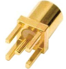 Connector; MMCX 50 Ohm; Straight PC Jack; Brass; Gold; 6 GHz -- 70209875 - Image