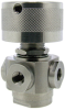 1/4-28 Threaded Ports, 4-Port Selector Ball Valve -- MBV4P-1414-3 - Image