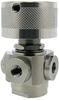 1/4-28 Threaded Ports, 4-Port Selector Ball Valve -- MBV4P-1414-3 -Image