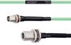 Temperature Conditioned Low Loss TNC Female Bulkhead to N Female Bulkhead Cable LL142 Coax in 24 Inch -- FMHR0168-24 -Image