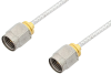 2.4mm Male to 2.4mm Male Cable 18 Inch Length Using PE-SR405FL Coax, LF Solder, RoHS -- PE35652LF-18 -Image
