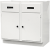 Flame Retardant Polypropylene 3 Drawer Base Cabinet 18x30 -- ID-3S-1830-BC-FR - Image