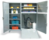 3 Door All Purpose Cabinet with Fold Down Ramp -- 466-DS-247/RAMP - Image