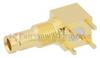 RA 75 Ohm 1.0/2.3 Jack Bulkhead Push-On PCB Connector Thru Hole Solder Attachment -- FMCN1120
