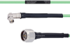 Temperature Conditioned Low Loss RA SMA Male to N Male Cable LL142 Coax in 48 Inch -- FMHR0156-48 -Image