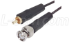 ThinLine Coaxial Cable RCA Male/ BNC Male 1.0 ft -- CTL1RB-1