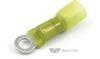 12-10GA #10 Ring Terminal Yellow Heat Shrink & Solder -- 32953 - Image