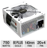 NZXT HALE90-750-M Hale90 Series 750W Power Supply - ATX, Mod -- HALE90-750-M