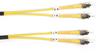 1m (3.2ft) STST YL OS2 SM Fiber Patch Cable INDR Zip OFNR -- FOSM-001M-STST - Image