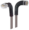 Shielded Category 6 Right Angle Patch Cable, Right Angle Right/Right Angle Down, Gray, 3.0 ft -- TRD695SRA10GRY-3 -Image