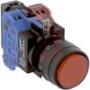 Switch,Illuminated,Pushbutton,ROUND FLUSH,Momentary,LED,RED -- 70174978