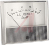 Ammeter, Electromechanical AC; 50 A; + 5%; 3.5 in.; Polystyrene; 750 Series -- 70136681