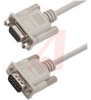 Cable;Premium Molded;Straight;DB9 Male/Female;50 Ft;9 Cond;Light Gray;Stranded -- 70126155 - Image