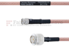 SMA Male to TNC Male MIL-DTL-17 Cable M17/60-RG142 Coax in 18 Inch -- FMHR0026-18 -- View Larger Image