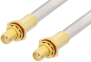 SMA Female Bulkhead to SMA Female Bulkhead Cable 12 Inch Length Using PE-SR401AL Coax -- PE3764-12 -Image