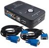 2-Way Mini USB KVM with Cable (5ft) -- NET-USB842S