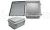 14x12x7 Inch Weatherproof NEMA 4X Enclosure with Blank Starboard Mounting Plate -- NB141207-KIT01