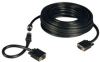 VGA Coax Monitor Easy Pull Cable, High Resolution cable with RGB coax (HD15 M/M) 100-ft. -- P503-100
