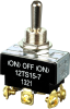 MICRO SWITCH TS Series Toggle Switch, 2 pole, 3 position, Screw terminal, Standard Lever -- 12TS15-7 -Image