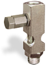 "(Formerly B1631-3-TP-SG), Straight Small Sight Feed Valve, Solid Gasket, 1/8"" Female NPT Inlet, 1/8"" Male NPT Outlet, Tamperproof -- B1628-412B2TW -- View Larger Image"