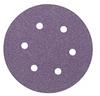 3M 732U Coated Ceramic Aluminum Oxide Hook & Loop Disc - 150 Grit - 6 in Diameter 6 Vacuum Holes - 87060 -- 051125-87060 - Image