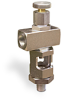 """Angle Heavy Duty Sight Feed Valve, Solid Gasket, 1/4"""" Female NPT Inlet, 1/4"""" Male NPT Outlet, Handwheel -- B1284-1-S01 -Image"""