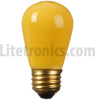 11-Watt Rough Service Incandescent S14 MED Ceramic Yellow -- L-101CY