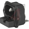 6200 Series Inlet; 2-Pole; 250 VAC; 5 x20 mm; 6 mm (Max.); Panel Mount -- 70080814 - Image