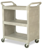 "Platinum Utility Cart w/End Panels 37-1/2"" x 31"" x 18"" -- 7561"