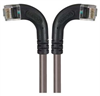 Category 6 Right Angle RJ45 Ethernet Patch Cords - RA (Left) to RA (Right) - Gray, 25.0Ft -- TRD695RA8GRY-25 -Image